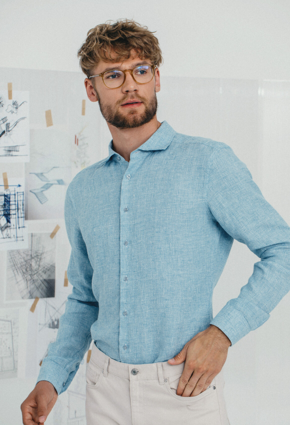 Light Blue Kvistur Shirt