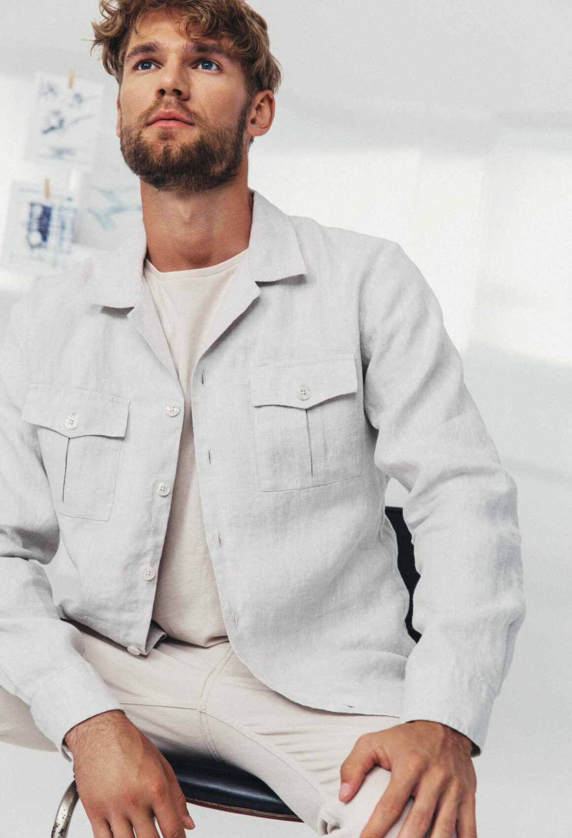 Grey Hornsteinn Overshirt