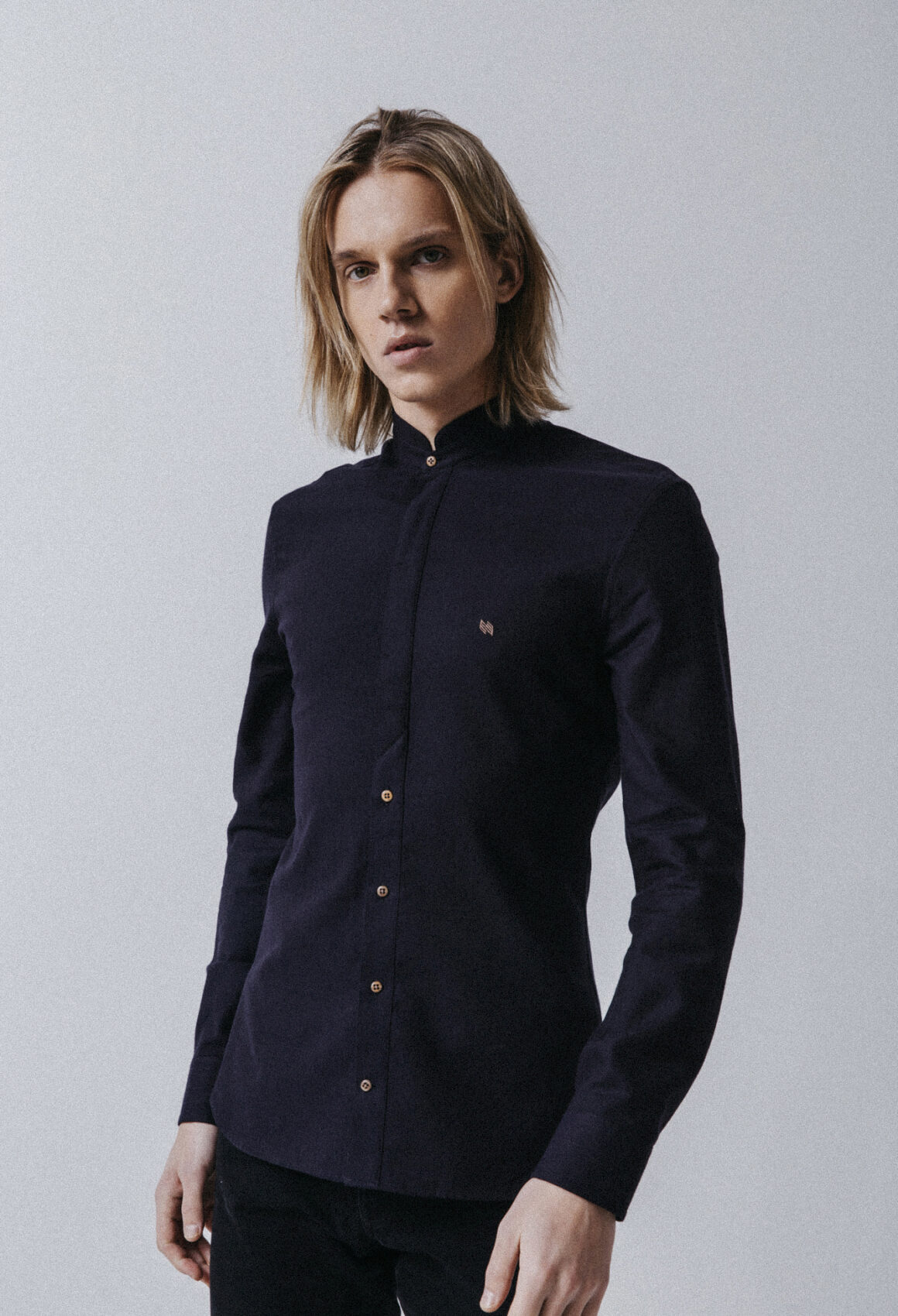 Dark Navy Wool Mælifell Shirt
