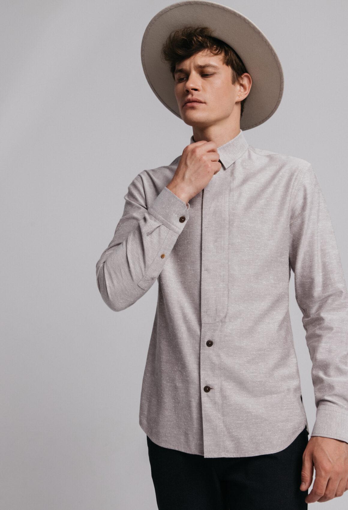 Grey Silk Vik Shirt