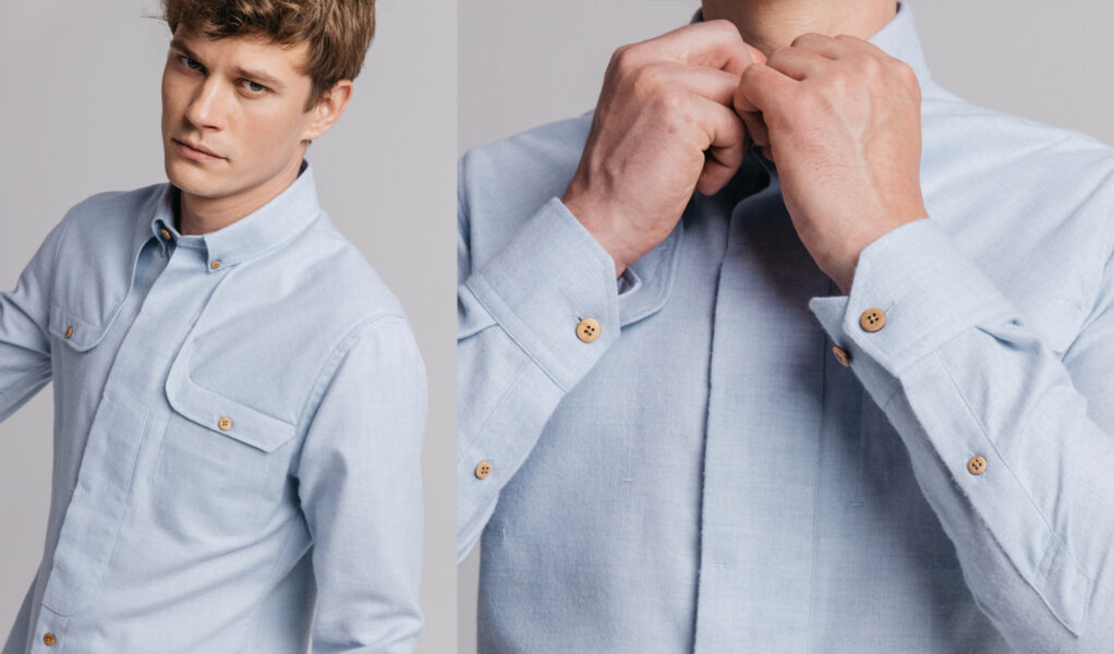 Light blue Myvatn shirt